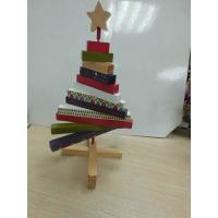 Buy cheap Mini Christmas Wooden Tree ,  Artistic Wood Crafts Colorized 180 X 250 X 20mm product