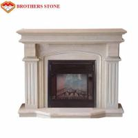 Buy cheap Customized Size Beige Marble Fireplace Surround With Polished / Drawing Surface product