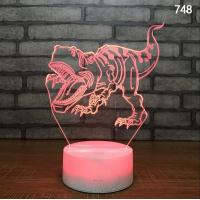 China 3D Optical Illusion Visual Light 7 Colors Touch Table Desk night light projector kids on sale