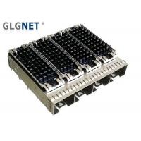 Buy cheap 4 Ports SFP Port Connector Copper Alloy Cage Material EMI Shield For 10G Ethernet product