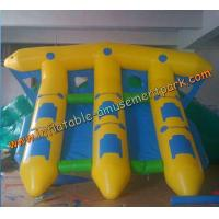 Buy cheap Yellow Inflatable Boat Toys , Inflatable Flyfish Boat Towable 4m x 4m product