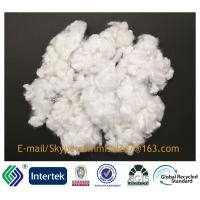China 15DX51 non-siliconized white recycled hollow conjugated polyester staple fiber on sale