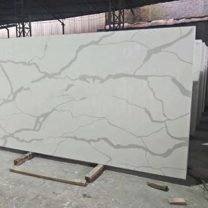 Buy cheap Cut - To - Size Artificial Quartz Stone , White Quartz Kitchen Worktops product