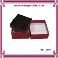 Buy cheap Rigid paper cosmetic box, red cardboard paper box with sponge insert ME-TB007 product