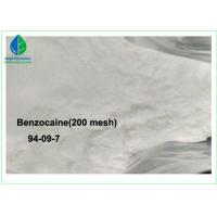 China 99% Purity Local Anesthesia Drugs Benzocaine With 20 - 50 Mesh / 200 Mesh on sale