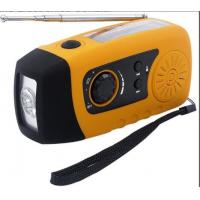 Buy cheap Mini Solar Powered FM Radio with 3 bright white LED and USB Connectors product