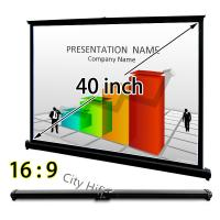 China Handy Table Top Micro Projector Screen , 40 Inch Drop Down Screens For Projectors on sale