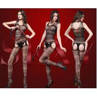 Wholesale floral lace keyhole Bodystocking with Pearls sexy hot net bodystocking