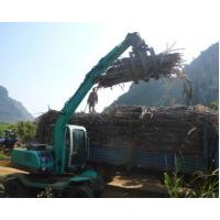 sugarcane equipment wheel excavator with grapple for sugarcane loading and unloading
