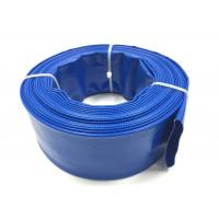 China Blue PVC Layflat Hose Aging Resistant Agricultural Irrigation PVC Water Pump Pipe For Water Discharge on sale