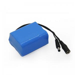 Buy cheap MSDS 12V 5000mAh 18650 Battery Pack CC CV Lithium Ion Battery Pack product