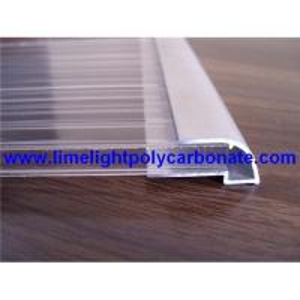 Buy cheap Aluminium U profile, aluminium edge, pc sheet accessories, polycarbonate sheet profiles product