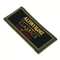 Buy cheap Colorful End Folded Custom Woven Labels Low Minimum For Textile / Clothing product