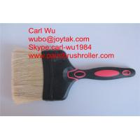 Natural pure bristle Chinese bristle synthetic mix paint brush wood handle plastic handle 4 inch PB-006