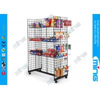 Buy cheap Store Wire Hooks Gridwall Display Racksl Gondola with Bulk Baskets product