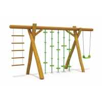 Buy cheap Iron Pipe Kids Garden 130CM Childrens Single Swing from wholesalers