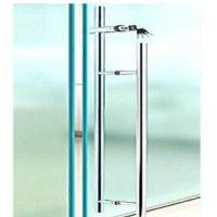 China Office Sliding Glass Door Handle With Key Lock / Stainless Steel Door Pulls on sale