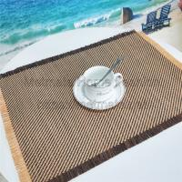 Buy cheap 100%PP Raffia,11.8*17.71 inch,Black,yellow and grey,silver,Round Woven Vinyl Placemats product