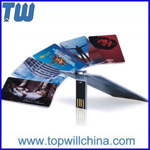 Promotion Slim Credit Card USB Flash Drive High Printing Quality