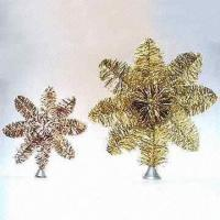 Buy cheap Flame-Retardant Foil Tree Top Stars in 5 to 8-inch Tall product