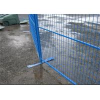 Buy cheap Security removable construction Canada temporary fencing galvanized or pvc coated product