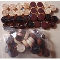 Buy cheap wood Backgammon Set Checkers Pieces in Black and Natural product