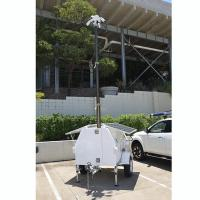 Buy cheap 4.5m lockable pneumatic telescopic CCTV mast pick up trailer mounted for mobile security services product