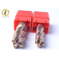 Square 4 Flute Carbide End Mill Cutter For Side Machining Hardeness Material