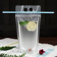 Buy cheap Fruit Juice Liquid Stand Up Plastic Pouch Packaging Bag Transparent With Zipper product