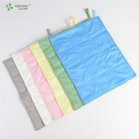 China Reusable Anti Static Wipes , Clean Room Lint Free Microfiber Cloth on sale