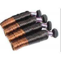 Buy cheap Colored Ombre Indian Human Hair Weave Egg Curl No Any Bad Smell product
