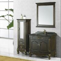 Buy cheap Floor Mounted Wooden Hand Curved Bathroom Cabinet Set (SE0802) product