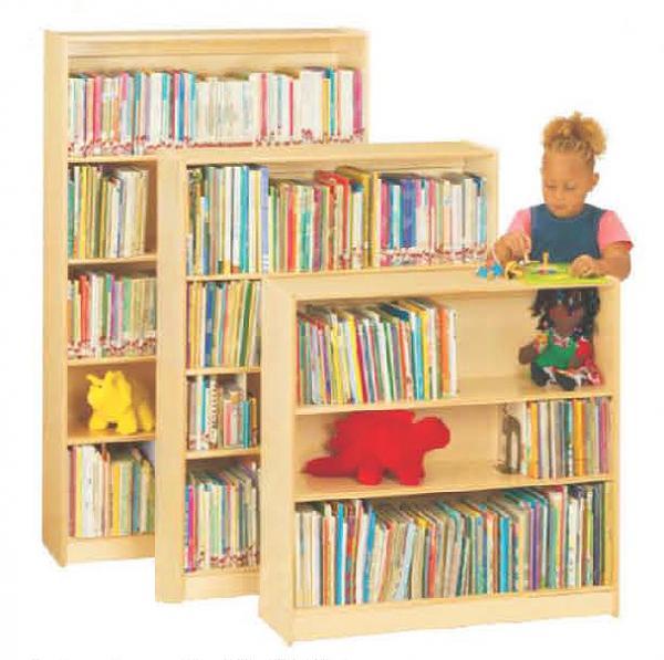 Wooden children bookshelf for preschool classroom