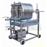 Buy cheap Stainless Steel Plate and Frame Filter Press Brewing Mash Filter Beer Filter product