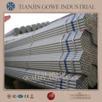 Buy cheap SGS Certificate Hot Dipped Galvanized Pipe for Double coupler / Fixed coupler 48.3 * 3.2mm * 6m product