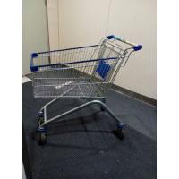 China Chrome Plated Iron Wire Shopping Trolley / Movable Store Hand Wire Shopping Cart on sale