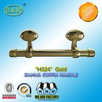 Buy cheap Egg Design Italy quality Metal Coffin bar zamak coffin hardware H024 size 25*10cm Gold Color product