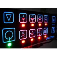 Quality Electrical Backlit LED Membrane Switch Panel Sticker , 3M467 / 3M468 Adhesive for sale