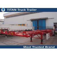Buy cheap Single Axle Container Trailer Chassis product