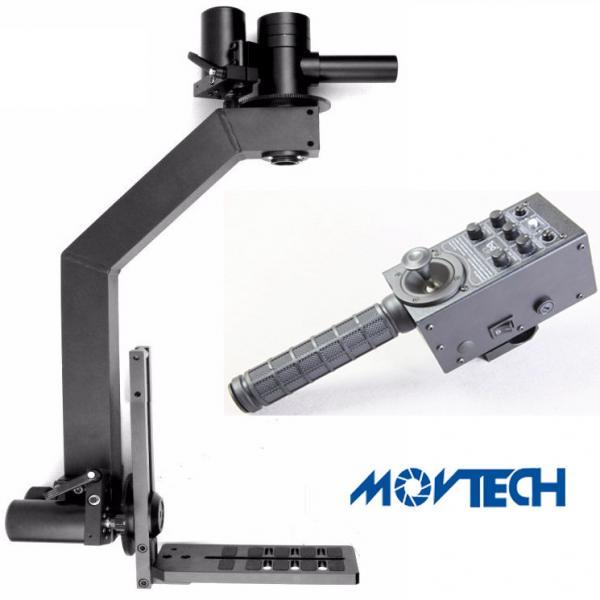 Movtech 2 axis motorized pan tilt head with joystick for Pan and tilt head motorized