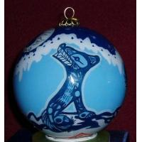 China Hand Painted Christmas Ball,Glass Decoration on sale