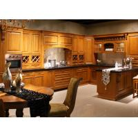 Coffe Color Traditional Kitchen Cabinets With Quartz Countertops Solid Wood