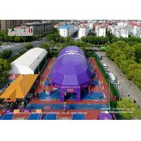 Buy cheap Customized Clear Span with 3-60M large PVC tent for sports court, large aluminum and PVC tent hall for stadium product
