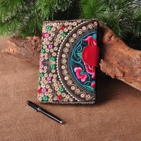 Buy cheap Customize Embroidered Logo Notebooks with leather snap closure as best souvenir gift product