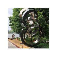 Buy cheap Spiral Contemporary Garden Decoration Stainless Steel Mirror Sculpture product