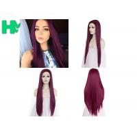 Cosplay Long Straight Hairnet Wig Synthetic Pure Red Color For Women Wave Party