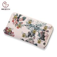 Buy cheap 2017 Factory price 20%off high quality fashion bee pattern single pull wallet zipper wallets long wallets product