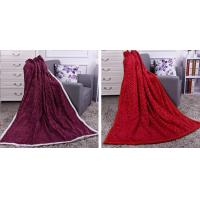 Buy cheap Solid Color Heavy PV Fleece Fake Fur Blankets And Throws Two Layers Anti - Pilling product