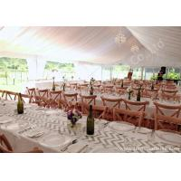 Buy cheap White Lining Adored Aluminum Framed Luxury Wedding Tents , Beach Wedding Marquee product