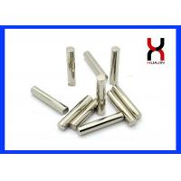 Buy cheap Nickel / Zinc Coating Cylinder Shaped Magnet Customized Diameter / Thickness product